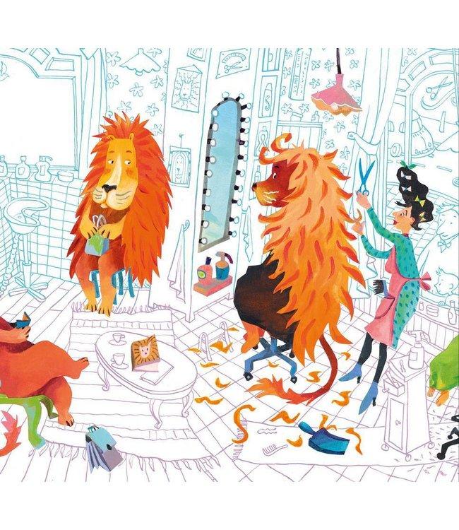 Alice Hoogstad Fototapete für Kinderzimmer Lion's Haircut, 292.2 x 280 cm