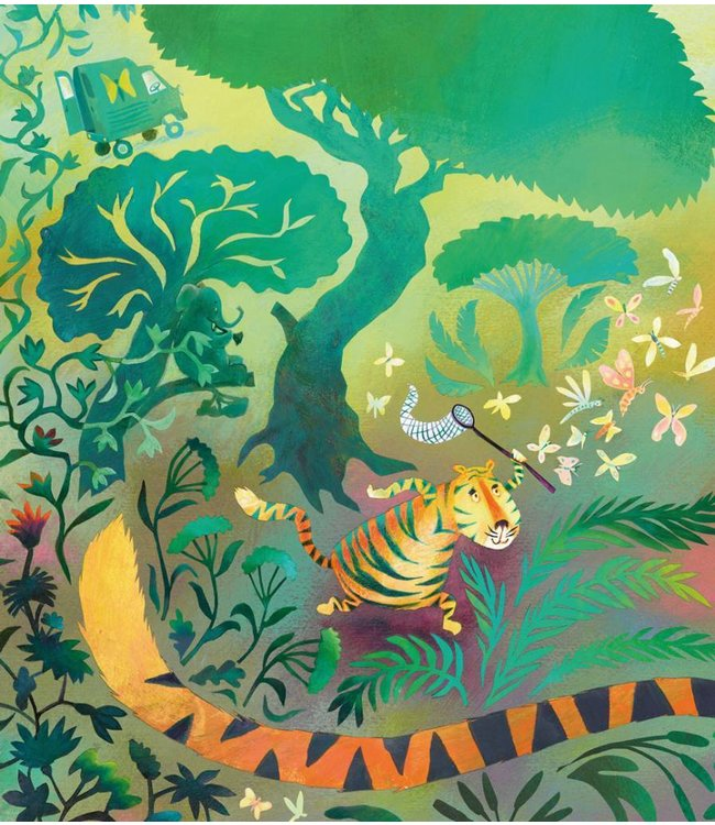 Alice Hoogstad Fototapete für Kinderzimmer Hunting Tiger, 243.5 x 280 cm