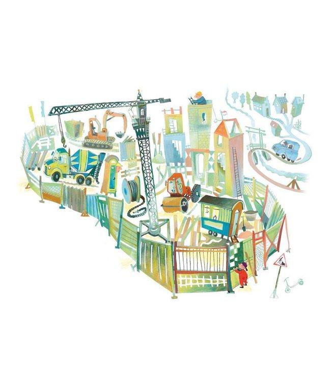 Alice Hoogstad Fototapete für Kinderzimmer Construction Site, 389.6 x 280 cm