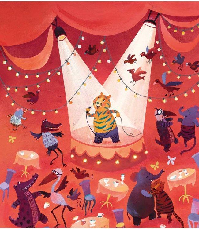 Alice Hoogstad Fototapete für Kinderzimmer Karaoke Tiger, 243.5 x 280 cm