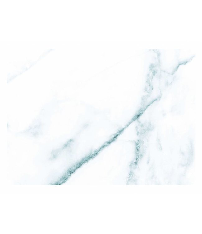 Fototapete Marble, Weiß-Blau, 389.6 x 280 cm