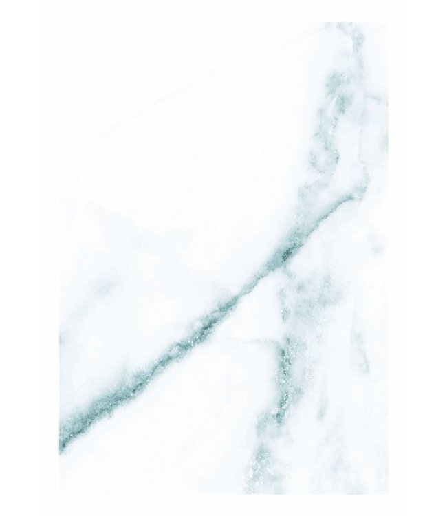 Fototapete Marble, Weiß-Blau, 194.8 x 280 cm