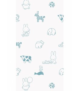 Dick Bruna Miffy tapete Animals, Blau