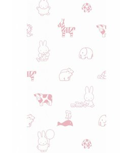 Dick Bruna Miffy tapete Animals, Rosa