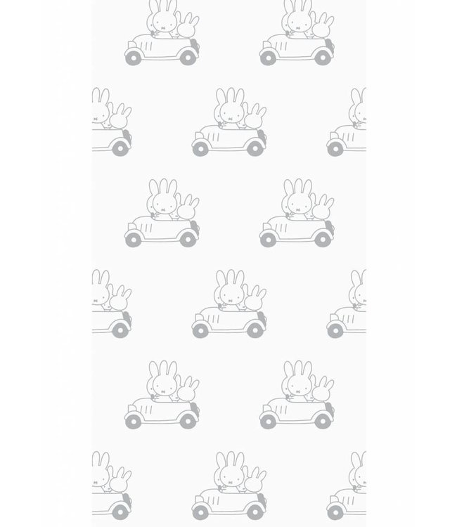 Dick Bruna Miffy tapete Cars, Gris, 97.4 x 280 cm