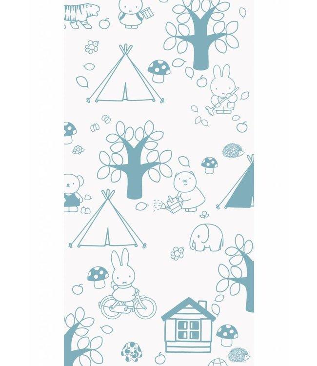 Dick Bruna Miffy tapete Outdoor Fun, Blau, 97.4 x 280 cm