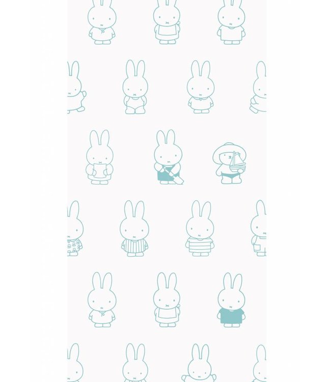 Dick Bruna Miffy tapete Various, Mint, 97.4 x 280 cm