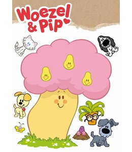 Woezel & Pip XL wandtattoos, 96 x 104 cm