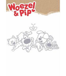 Woezel & Pip XL wandtattoos, Grau, 114 x 63 cm