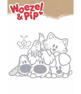 Woezel & Pip XL wandtattoos, Grau, 70 x 50 cm