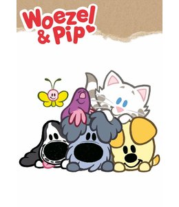 Woezel & Pip XL wandtattoos, 70 x 50 cm