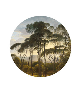 Tapetenpaneel rund Golden Age Landscape