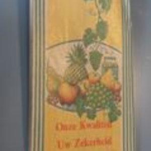 Levering uit voorraad Fruitzak 24x10cm 1/2 pond