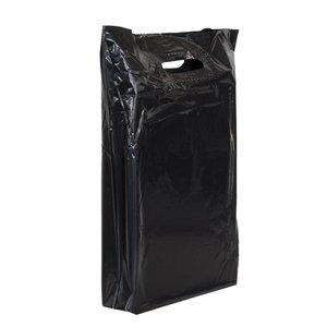 500x Plastic tassen 35x44+2x4cm zwart