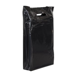 Levering uit voorraad 500x Plastic tassen 35x44+2x4cm zwart