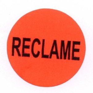 Levering uit voorraad Etiket 35mm rood reclame etiket