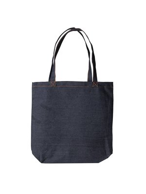 Stoffen tas type jeans 40x42+12cm (model tote  bag)