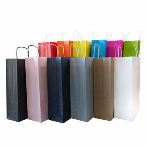 Levering uit voorraad 50x Papieren tassen 32+12x41cm