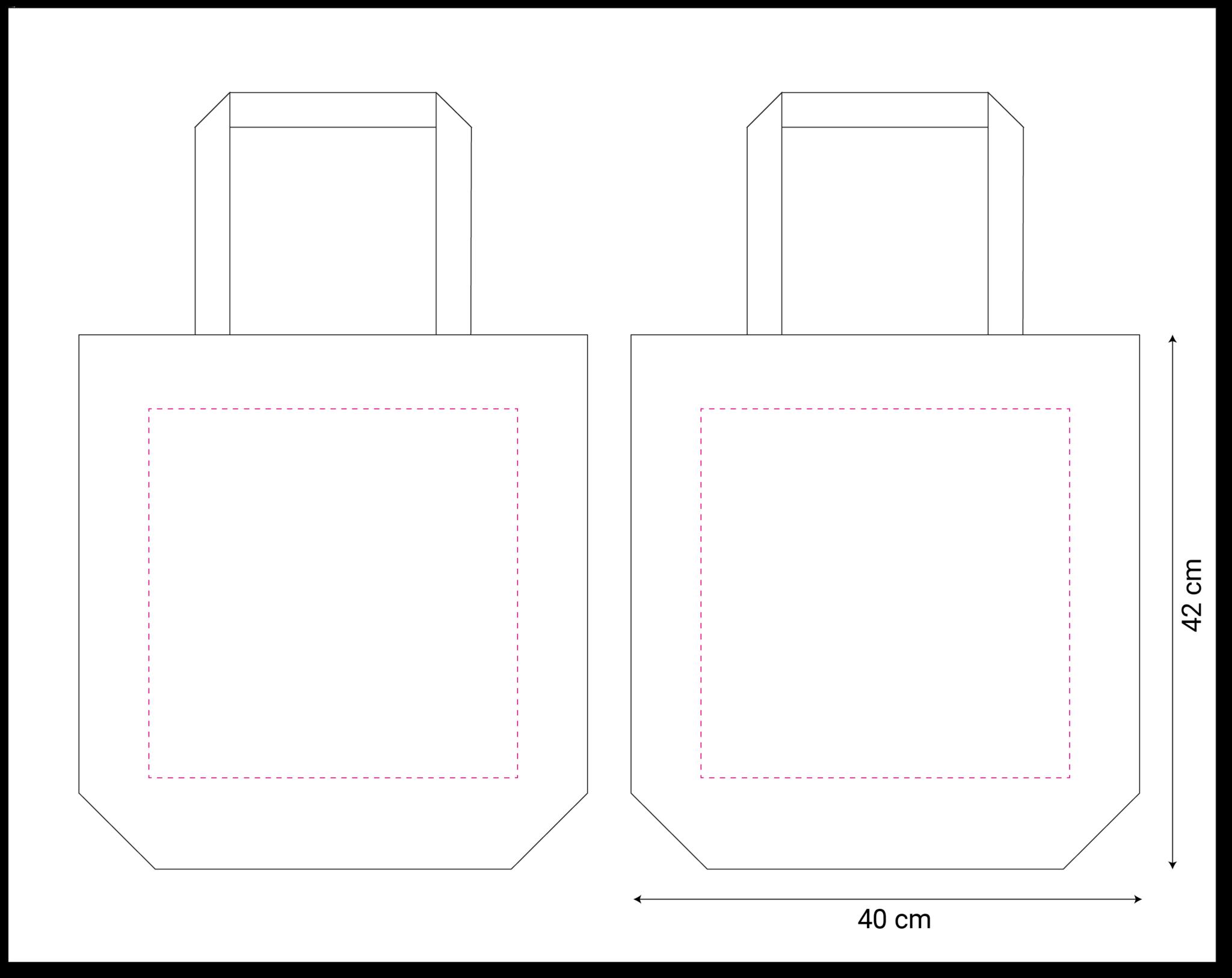 tekening canvas tote-bag