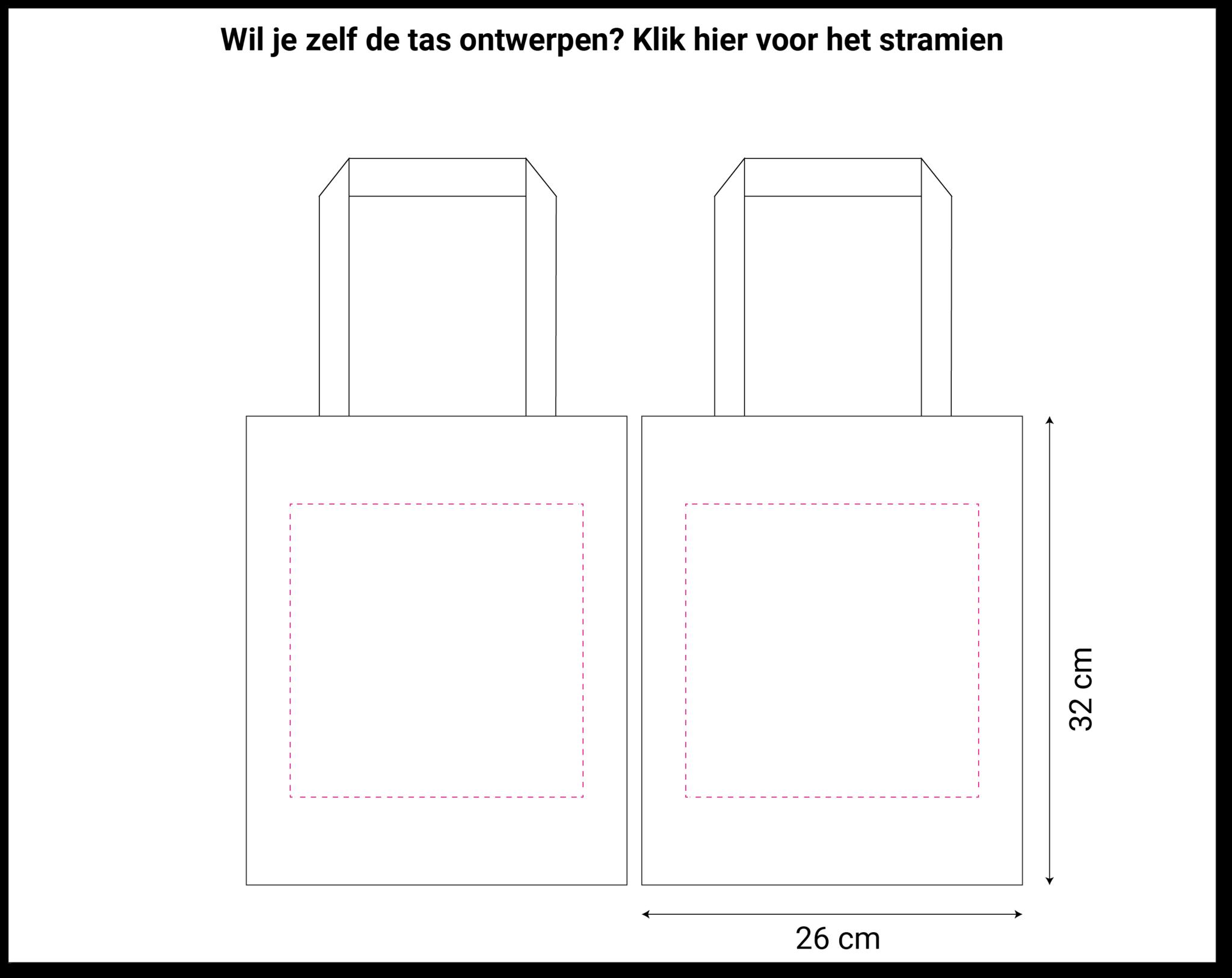 tekening vilten tas