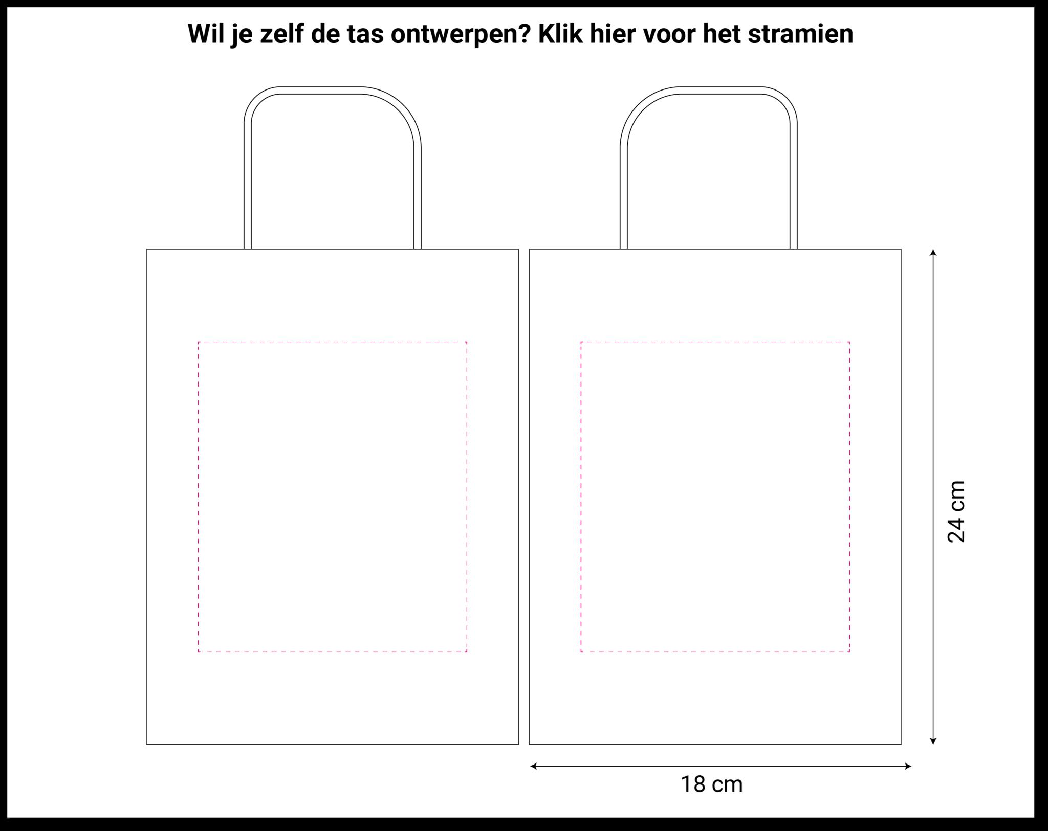 tekening papieren tas