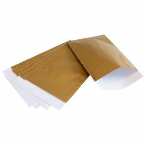 200x papieren zakjes Goud 7x13cm
