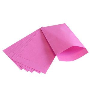 250x papieren zakjes Roze 12x19cm