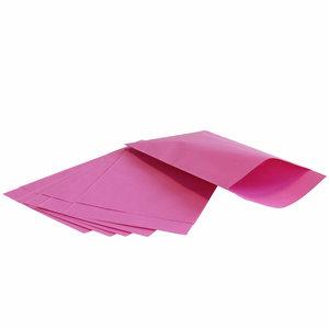 200x papieren zakjes Roze 7x13cm