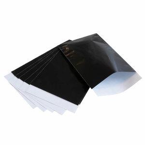 200x papieren zakjes Zwart 7x13cm