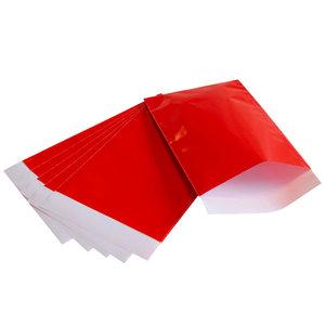200x papieren zakjes Rood 17,5x25cm