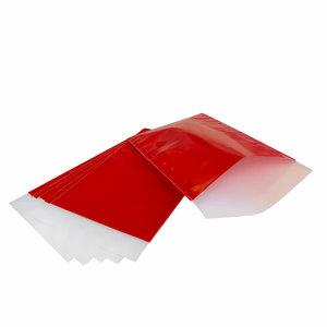 200x papieren zakjes Rood 12x19cm
