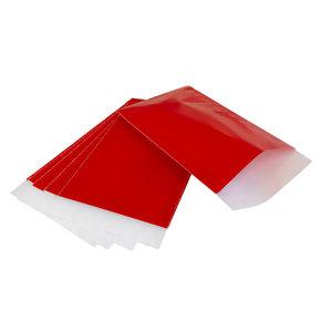 Levering uit voorraad 200x papieren zakjes Rood 10x16cm