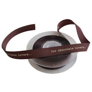 Levering uit voorraad Lint For Chocolate Lovers bruin 15mmx20m