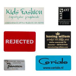 Levertijd ca. 2 weken Stickers Rechthoek