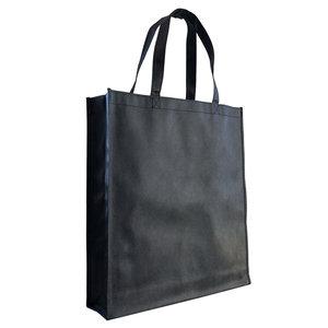 Levering uit voorraad Shopper Zwart non woven 40x9x42cm