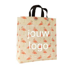 Non woven shopper Flamingo patroon