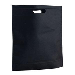 Levering uit voorraad 250x non woven tassen Zwart