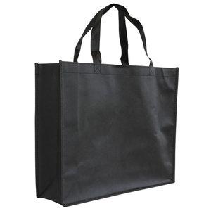Levering uit voorraad 10x shopper Zwart non woven 42x12x35cm