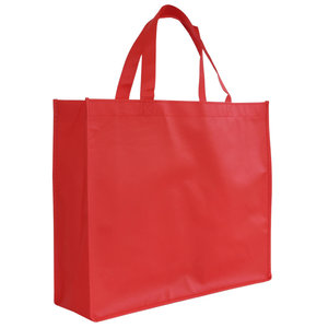 Levering uit voorraad Shopper Rood non woven 42x12x35cm