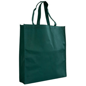 Levering uit voorraad Shopper Groen non woven 40x9x42cm