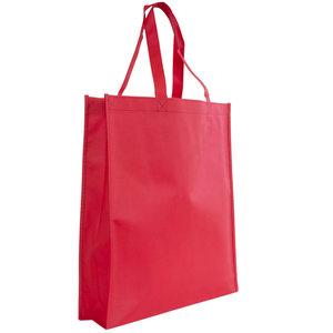 Levering uit voorraad Shopper Rood non woven 40x9x42cm