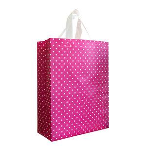 Shopper Roze met witte stippen