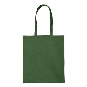 Levering uit voorraad 1x katoenen tas Donker groen