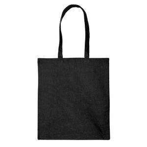 Levering uit voorraad 1x katoenen tas Zwart