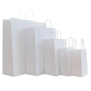 50x papieren tassen Wit in diverse formaten