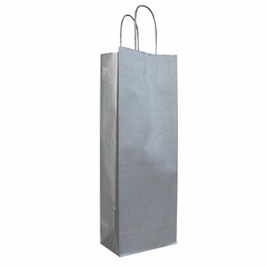 Levering uit voorraad 50x zilveren papieren wijnflestassen