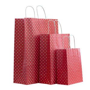 50x papieren tassen rood met witte stippen