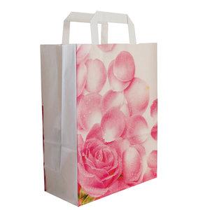 """50x papieren tassen """"Pink Lady"""" 22+10x28cm"""