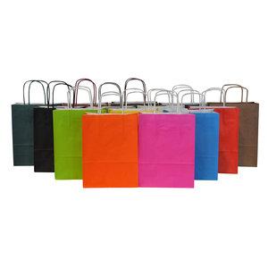 Levering uit voorraad 50 x Papieren tassen 18x08x24cm