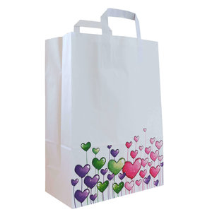 "50x papieren tassen ""Hartjes"" 26x12x35cm"